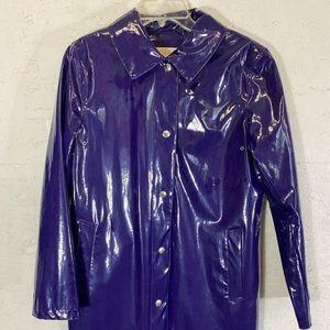 M KORS   patent leather vinyl pvc fullylined coat